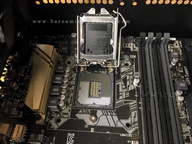نصب CPU